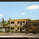 ca 1960 POSTCARD BEACH HOUSE MOTEL POMPANO BEACH FLORIDA