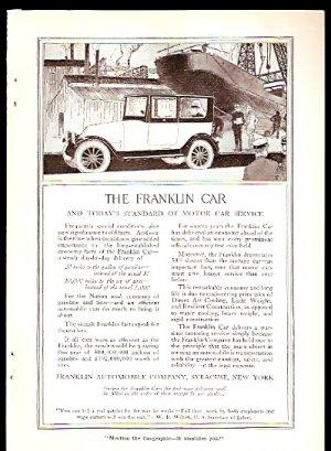 1918 AD FRANKLIN AUTOMOBILE COMPANY SYRACUSE NEW YORK