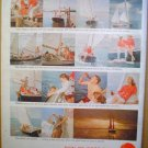 1958 FULL PAGE COCA COLA AD FUN ON A CAT-KETCH WITH COKE + GILBEY'S GIN
