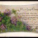 1911 FOUR LEAF CLOVER GREETING CARD