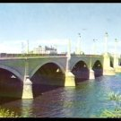 ca 1950/1960 MEMORIAL BRIDGE SPRINGFIELD MA WITH CITY BUS