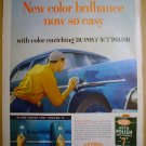 1958 FULL PAGE AD DUPONT 7 AUTO POLISH & CLEANER + COLUMBIA RECORD CLUB