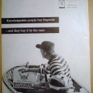 1958 FULL PAGE AD IMPERIAL WHISKEY KNOWLEDGEABLE PEOPLE BUY IT BY THE CASE = MONY