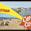 Ca 1960 CHATHAM CAPE COD BEACH & HARBOR VIEW