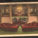 1952 ASSEMBLY CHAMBER STATE CAPITOL ALBANY NEW YORK GOLD BORDER 819