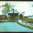 COVERED BRIDGE & FARMHOUSE LYNDON VERMONT 829