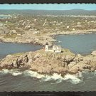 BIRDS EYE VIEW NUBBLE LIGHT & YORK BEACH MAINE 838