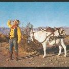 A DESERT PROSPECTOR & HIS PATIENT BURRO 840