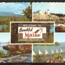 MULTI-VIEW WELCOME TO BEAUTIFUL MAINE SCENIC VACATIONLAND 854