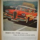 1958 AD FORD EDSEL BERMUDA STATION WAGON EDSEL STYLING IS HERE TO STAY