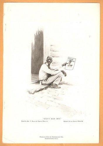 1918 CREAM OF WHEAT AD RASTUS & FATHER EDW V BREWER ART + GOLD MEDAL FLOUR