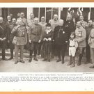 1918 NATGEO PHOTO GENERAL PERSHING MARSHAL FOCH MARSHALL JOFFRE + STRASSBURGH CATHEDRAL