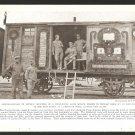 1918 NATGEO PHOTO CZECHO-SLOVAK TROOPS IN SIBERIA ON DECORATED RAILROAD CAR