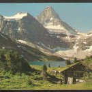 MOUNT ASSINIBOINE & LODGE W/ HORSES LAKE MAGOG CANADIAN ROCKIES 949