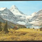 MOUNT ASSINIBOINE & LODGE W/ HORSE LOG CABINS LAKE MAGOG CANADIAN ROCKIES 957