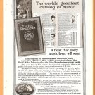 Original 1918 Detroit Steel + RCA Victor Records full page ads