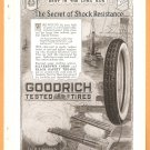 ORIGINAL 1918 BF GOODRICH TIRES WORLD WAR 1 AD W/ BATTLESHIPS WW1