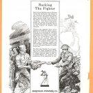 ORIGINAL 1918 HERCULES GUN POWDER WW1 GEOGRAPHIC AD + PUFFED WHEAT CEREAL