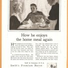 ORIGINAL 1918 QUAKER PUFFED RICE + SWIFTS BACON WORLD WAR 1 ADS