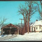 Pulp Mill Bridge Snow Covered Home Otter Creek Middlebury Vermont Addison County 992