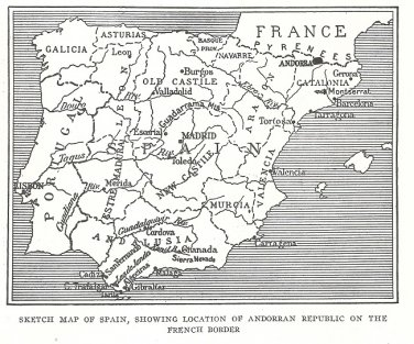 Llivia Unique Republic Where Smuggling is an Industry Andorra Spain France 1918 NatGeo Article