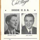 INSIDE THE USA JACK HALEY BEATRICE LILLIE 1949 SHUBERT THEATER PLAYBILL LINDA DARNELL CHESTERFIELD
