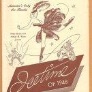 SONJA HENIE ICETIME OF 1948 ROCKEFELLER CENTER PROGRAM  BOB HOPE CHESTERFIELD CAMEL BALLANTINE
