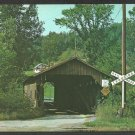 Old Covered Bridge at Railroad Crossing Cambridge Junction Vermont Summer View 1015
