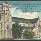 Cathedral of the Holy Cross Boston MA Linen Postcard 1031