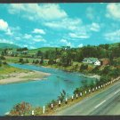 Down by the Riverside in Maine Roadway River Farms Mountains 1053