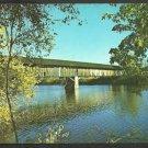 Covered Bridge Near Route 5 Newbury Vermont Chrome Postcard 1061