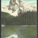 Splendid View of Mount Burgess Emerald Lake Canadian Rockies British Columbia Yoho National Park
