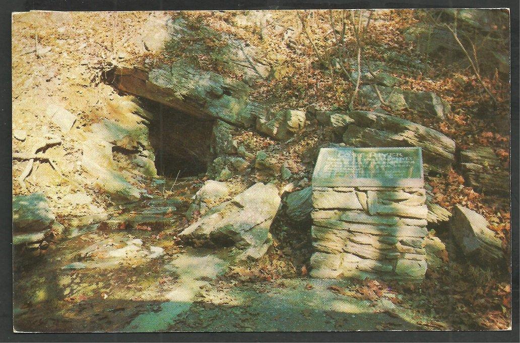 The Lost River at Natural Bridge Virginia 1957 Chrome Postcard 126