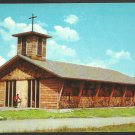 Church of the Blessed Sacrament Stowe Vermont Chrome Postcard 128
