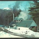 Vermont Maple Sugar Sugaring Building Deep In The Mountain Woods Chrome Postcard 133