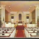 North Parish Congregational Church Sanford Maine 1965 Christmas Card Pews Altar Christmas Trees 1091