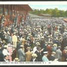 A Full Grandstand and Apron Saratoga Race Course Race Track Horse Racing White Border Postcard 1110