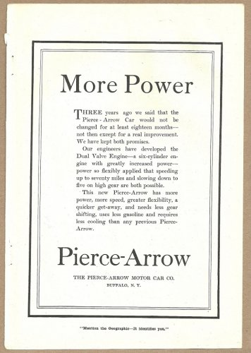 1918 Ads Pierce Arrow Auto Chase Drednaut Motor Topping Elliott Nursery Co Pittsburgh