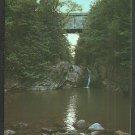 Swimming Hole Under Halpin Bridge Middlebury Vermont Chrome Postcard 1121