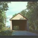 Old Covered Bridge Brandon Vermont Chrome Postcard 1133