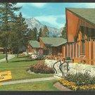 Jasper Park Lodge Lac Beauvert Alberta Canada Pyramid Mountain Chrome Postcard 1142