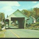 Covered Bridge Homes Barn Roadway South Wheelock Road Lyndon Vermont Chrome Postcard 1144