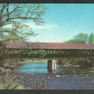 Covered Bridge Contoocook River Route 127 New Hampshire Chrome Postcard 1146