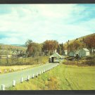 Old Covered Bridge South Wheelock Road Lyndon Vermont Country Road Farms Homes Chrome Postcard 1152