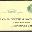 ca 1915 Northwestern Miller Publishing Company Salesman Survey Postal Card Minneapolis Minnesota