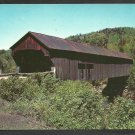 Old Covered Bridge Chester Vermont Country Road Telephone Pole Rolling Hills Chrome Postcard 1156