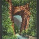 Night Illumination Natural Bridge Virginia Chrome Postcard 207