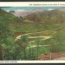 Engineers Lariat On the Road to Lookout Mountain Denver Mountain Park Colorado White Border Postcard