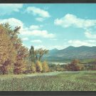 Golden Autumn Foliage Distant Mountains Rolling Hills and Valley Postcard 208