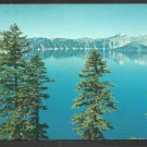 Unique View Crater Lake Oregon w/ the Phantom Ship and Wizard Island Chrome Postcard 226